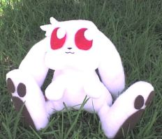 wiz plushie in the backyard by VioletLunchell