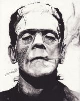 The Frankenstein Monster by DarkCalamity