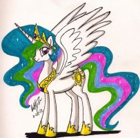 Princess Celestia by newyorkx3
