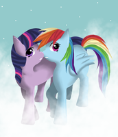Rainbow Dash x Twilight Sparkle by SapphiresFlame