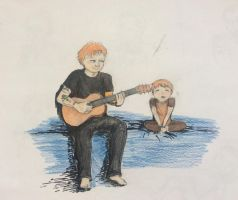 Ed Sheeran and Son? by lostblood22