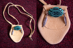 Medicine Bag/Spirit Pouch: Turquoise (sold) by ArtLoDesigns