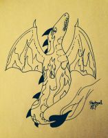 Flame Dragon by Starsinger1