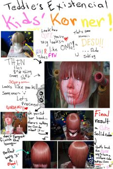 Pop'n Music: kanoko wig tutorial by EmmaRPG