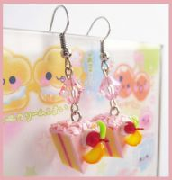 Strawberry Cake Earrings 2 by cherryboop