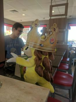 Sandslash at Burger King by NovaKaru