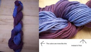 Blue and Purple by cyla-knits