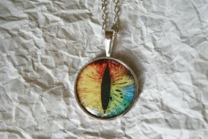 Mysterious Eye Necklace by foowahu-etsy