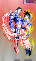 Goku Vs SuperMan... Who would win? by DJIvan23