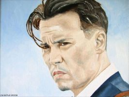 Johnny Depp - The Public Enemy by shaman-art