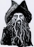 Davy Jones - Pirates Of The Caribbean by NikkiMcB