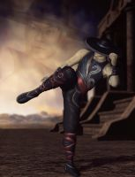 Kung Lao (alternate costume) by deexie
