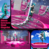 MMD Miku's Love Love Hotel Stage Set by Trackdancer
