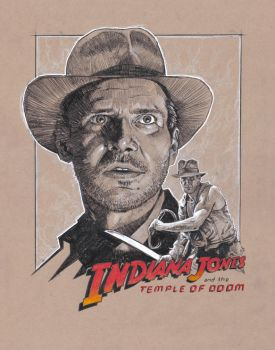 Indy Temple of Doom sketch by MarkButtonDesign