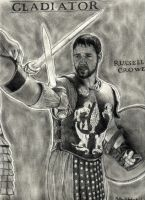gladiator russell crowe by ThunderhillPaints