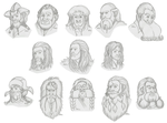 Thorin and Company sketches by Kriegswaffle