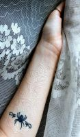 White ink, lace tattoo. by GlorifiedDoorbell