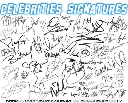 Celebrities Signatures.abr by everybodysgotaprice