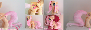 My first ever plushie!  Fluttershy :3 (SOLD!) by moggymawee
