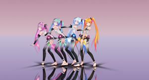 Poker Face (Tda Seasons Miku YT and NND Link) by MeerkatQueen