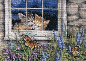 Feline Love Cross Stitch by susanjrobinson