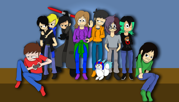 Gigantic Group Drawing by Dizzy-Mis-Lizzy