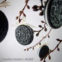 Faux Oreo Cookie Ornaments 02 by CreativeAbubot
