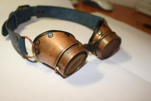 Goggles  metal 1 by Marseau