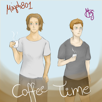 Sam and Dean Winchester - Coffee Time! by Majoh801