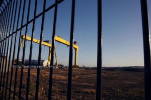 Harland and Wolff yard by UnrehearsedSplendour