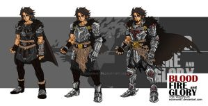 Bloodfireglory_Sir Mordred_Character Designing by NDomon87