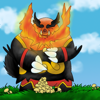 Emboar Feasts by Inudoragon23