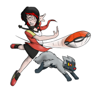 Trainer Katie Wants to Battle by timsplosion