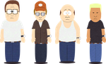 South Park x King of the Hill by Lolwutburger