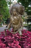 Native Indian Statue 03 by FairieGoodMother