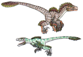 Some old Feathered Raptor art by FiftyFootWhatever
