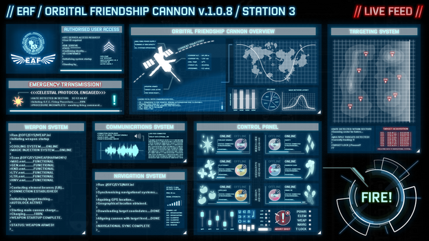 EAF - Orbital Friendship Cannon Interface by smokeybacon