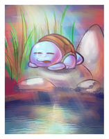 Sleeping Squirtle by GlassPanda