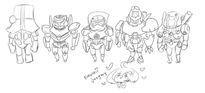 Pacific Rim: Kawaii Jaegers WIP by theREDspy