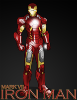 Iron Man by Xain-Russell