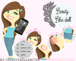 Beauty Blue doll by ChiquitaHelencita