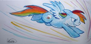 Watercolour Rainboom by Mazepony