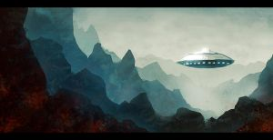 Mountain UFO by Seyanni