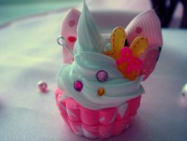 Bunny Bow Cupcake by Lustfulwish