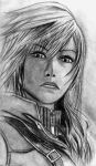 Dissidia 012: Final Fantasy - Lightning by ChronicleArtist