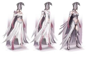 Breath of Life Costume Sketches by Veneq