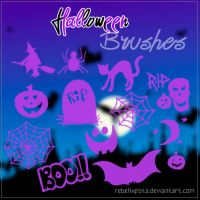 Halloween Brushes by silly-luv