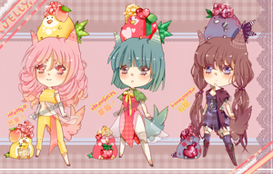 Fruit Jelly Adoptables Set [CLOSED] by amandidaisy