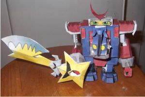 Shoutmon X2 Papercraft by reaver570