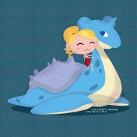 Glee!Pokemon - Brittany and Lapras by katessence